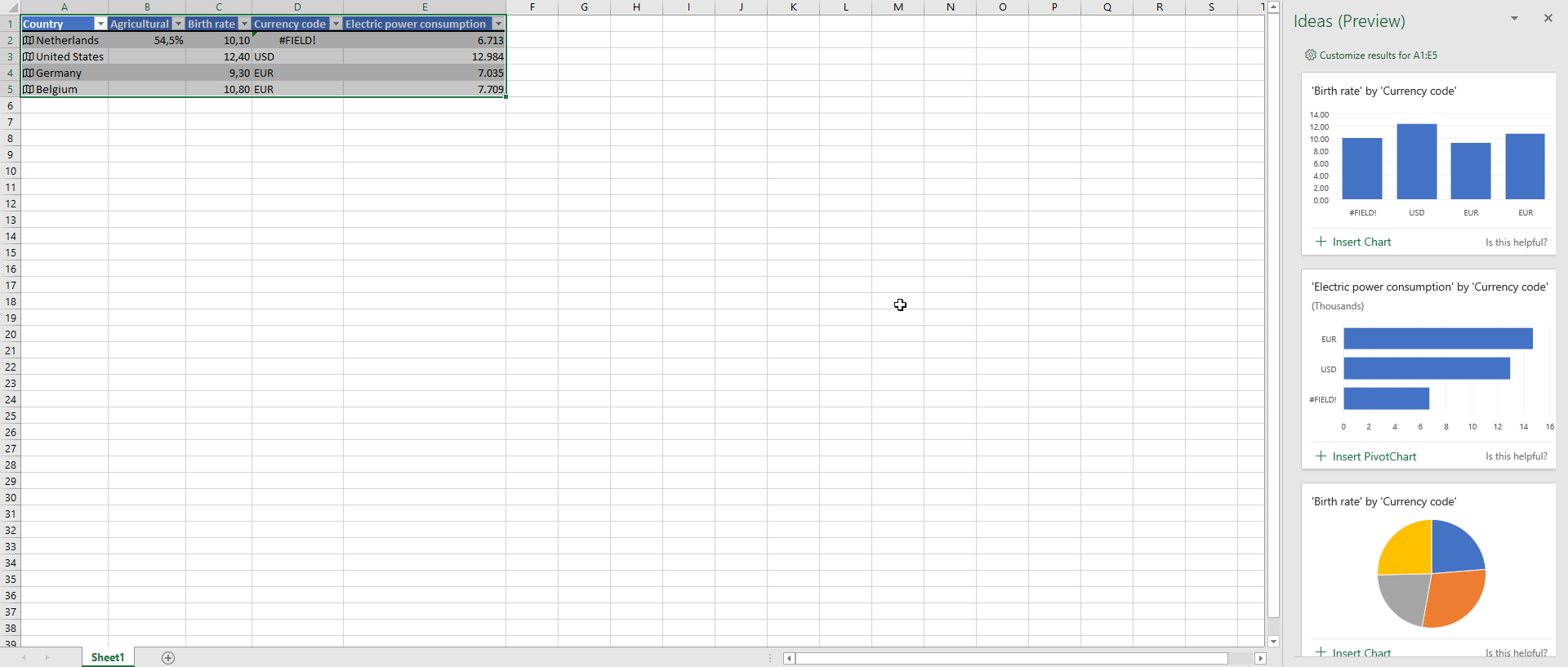 Excel Ideas